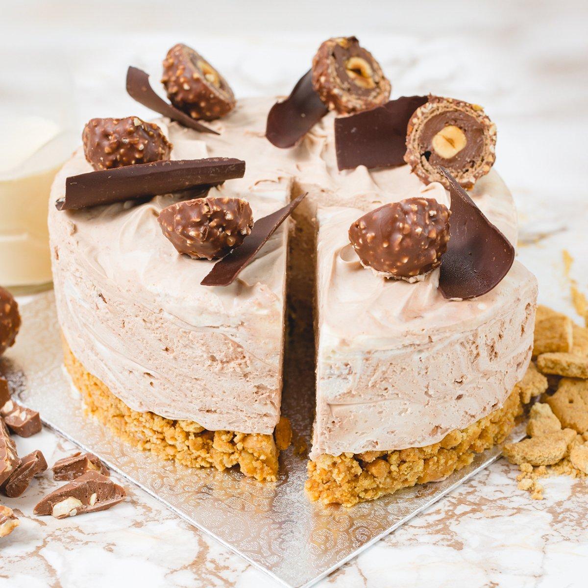 6 Portions Ferrero Rocher Cheesecake | Merci Beaucoup Cakes