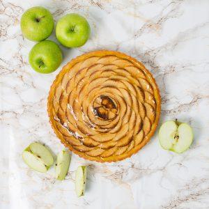 French Apple Custard Tart | Merci Beaucoup Cakes