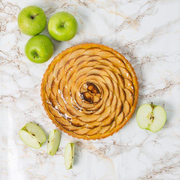 French Apple Custard Tart   Merci Beaucoup Cakes