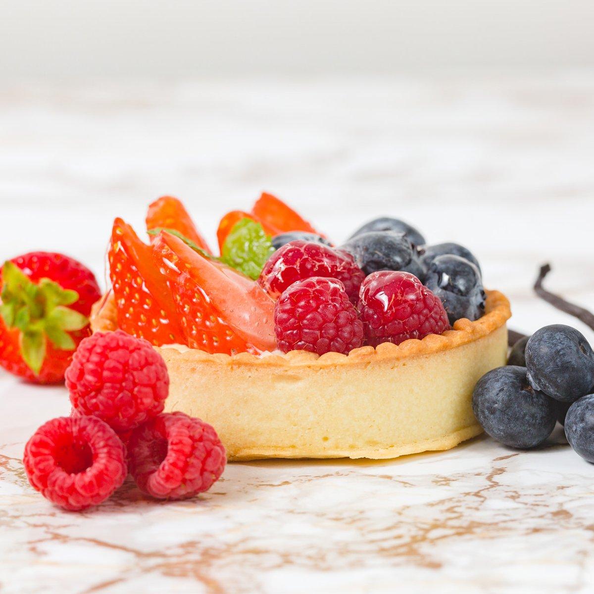 Fresh Fruit Custard Single | Merci Beaucoup Cakes