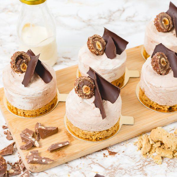 Set of 5 Individual Ferrero Rocher Cheesecakes   Merci Beaucoup Cakes