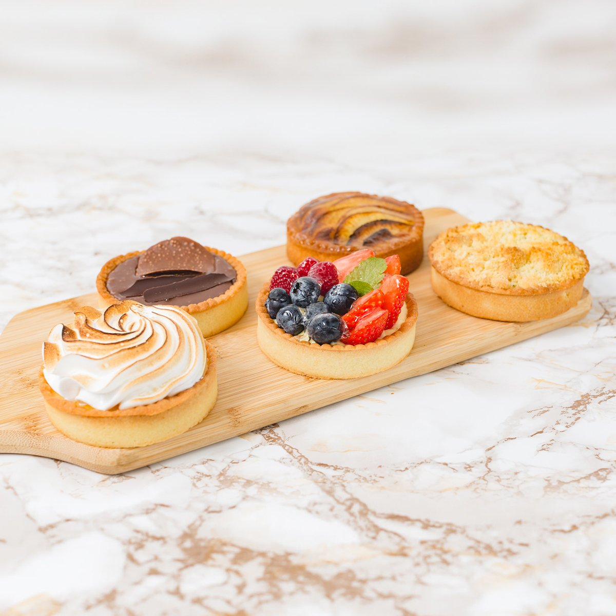 Set of 5 Individual Tarts | Merci Beaucoup Cakes