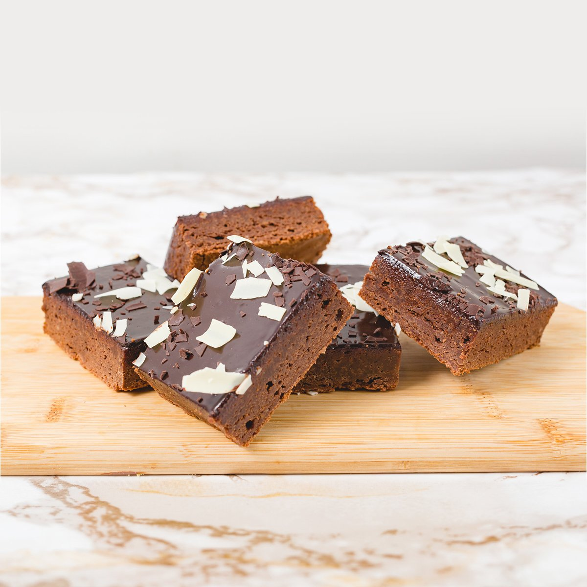Set of 5 Rich Chocolate Brownies | Merci Beaucoup Cakes